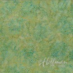 Fabric Manufacturers > Hoffman Batiks > Bali-Turquoise Tea - Old Country Store Fabrics