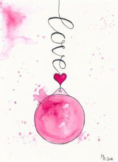 Weihnachtskarten selber machen – Lettering & Aquarell Step by Step + Download Freebie Kurz vor Weihnachten hießt für mich: Weihnachtskarten selber machen. Weil mir die Mischung aus Lettering und Aquarell der Weihnachtskugel vom letzten Jahr so gut gefällt, habe ich einfach drei neue Weihnachtskugeln mit verschiedenen Schriftzügen gemalt. Mehr dazu auf MrsBerry.de