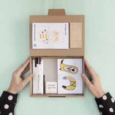 The magic kit that will help you convert your artwork in PINS! The kit includes sheets of a finite acetate in which you can draw or trace . Box Design, Layout Design, Print Design, Graphic Design, Printed Portfolio, Portfolio Design, Japan Design, Brand Packaging, Box Packaging