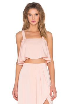 revolve: lovers + friends. bouffant crop top. #fashion