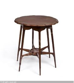An English Arts & Crafts mahogany occasional table designed by George Jack for Morris & Co. European Furniture, Fine Furniture, Art Decor, Home Decor, Art Nouveau, Stool, Arts And Crafts, Auction, Hall Tables