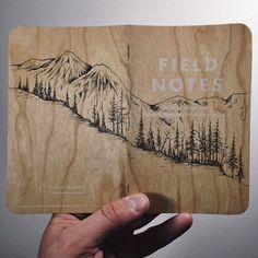 FIELD NOTES WOOD COVERED NOTEBOOKS -  COMING SOON TO DOMESTICA The cover is a canvas too. #fieldnotesbrand