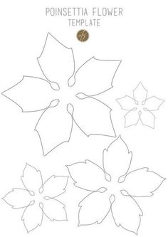 Poinsettia flower template III copy Last year I created some paper poinsettias for my Christmas presents. I loved so much the result that I decided to work on it again for this Christmas, and I made two different kinds of poinsettias… Poinsettia Flower, Christmas Flowers, Christmas Paper, Christmas Decorations, Paper Decorations, Giant Paper Flowers, Diy Flowers, Fabric Flowers, Diy Paper