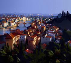 old city _v3, Michal Sawtyruk on ArtStation at https://www.artstation.com/artwork/rdd8E