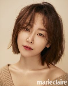 Seo Hyun Jin shows off her cute bob in 'Marie Claire' - Korean Hair Hairstyles For Fat Faces, Little Girl Hairstyles, Bob Hairstyles, Medium Hair Styles, Natural Hair Styles, Short Hair Styles, Korean Bob, Seo Hyun Jin, Korean Haircut
