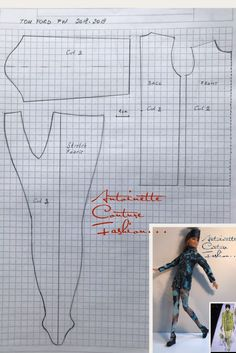 Not Curvy, but a good starting point for tights Fashion Dolls Couture - Unlimited: Tom Ford Fall / Winter collection…. Sewing Barbie Clothes, Barbie Sewing Patterns, Doll Dress Patterns, Diy Clothes, Tom Ford, Diy Fashion Dresses, Fashion Clothes, Accessoires Barbie, Barbie Fashionista Dolls