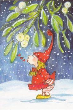 Postcrossing postcard from Finland Christmas Rock, Felt Christmas, All Things Christmas, Vintage Christmas Images, Christmas Pictures, All Nature, Watercolor Sketch, Winter Art, Christmas Illustration