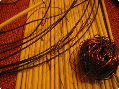 У меня просили показать плетение на проволоке, исполняю просьбу. Теперь корзина ждет завершающей отделки, но это будет потом.... фото 2