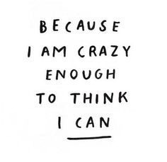 I can do this!