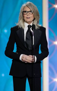 Diane Keaton Examines Woody Allen's Mind, Sings and Curses a Lot While Accepting His Cecil B. DeMille Award   E! Online Mobile