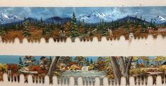 Absolutely beautiful artwork! Hand painted on each blade, ready and waiting for you to come take one home! Multiple sizes and landscapes available.