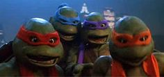 raphael leonardo donatello & michaelangelo from   teenage mutant ninja turtles trilogy