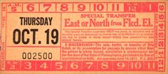 Elevated to bus/streetcar transfer from Philadelphia (Pennsylvania) Transportation Company (altered version of Philadelphia Rapid Transit Company transfer) (date unknown)