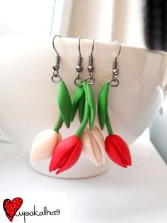 tulips polymer clay - Anna Cernicuic