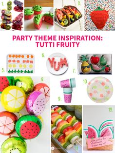 Party Theme Inspiration: Tutti Fruity on Style for a Happy Home //Click for details