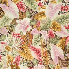 "In The Tropics Caladium 112-25191 Fabric Quilt 100% Designer Cotton 45"" w By the yard FC11871"