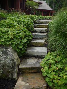 stone stair ~ by? via: stone farm