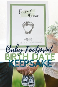 I just love this baby footprint keepsake.  So cute how it combines the newborn baby birth stats with the baby footprint art.  What a cute idea and the heart in the middle is so precious! Would look so adorable in a nursery room. #babyfootprintkeepsake #babyfootprintart #babyfootprintgifts #birthstats #birthstatssign Birth Gift, Baby Birth, Baby Footprint Art, Personalized Family Gifts, Name Wall Art, Nursery Room, Girl Nursery, Nursery Decor, Baby Footprints