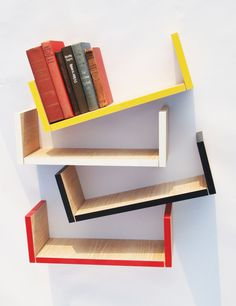 Items similar to Small Hanging Bookshelf, Yellow and Limed Oak finish, Handmade in the West of Ireland on Etsy Hanging Bookshelves, Bookshelves Kids, Book Shelves, Dark Colors, Neutral Colors, Light Colors, Creative Home, New Room, Wood Paneling