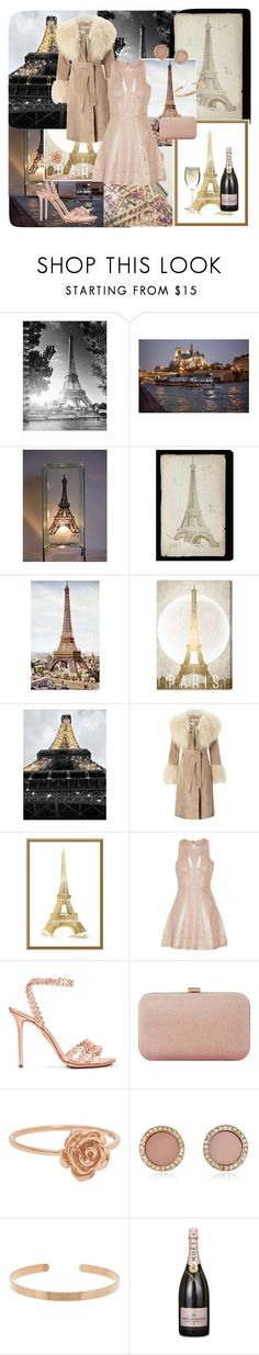 """""""The Night is Young"""" by california-cheerleader ❤ liked on Polyvore featuring TF Publishing, Oliver Gal Artist Co., Miss Selfridge, Amanti Art, Hervé Léger, Charlotte Olympia, Dune, Michael Kors, Aurélie Bidermann and Schott Zwiesel"""