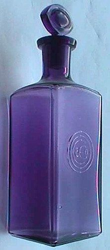 Deep purple original COLGATE and Co. antique PERFUME bottle w/ original glass stopper - 100 years old and counting ....