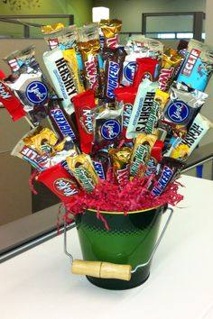 Candy bouquet for the boss' birthday!!