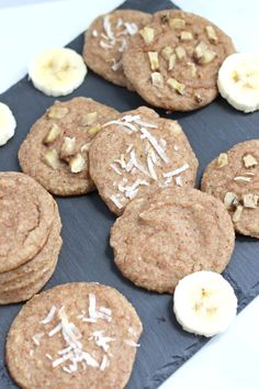 These paleo banana cream pie cookies are bursting with banana flavor, so soft, and takes 2 minutes to whip up the batter in a blender. Naturally sweetened.