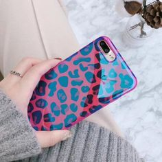 Wixcen Blu Ray Pink Leopard Phone Case-Other-Wixcen-pink-for iphone 6 Wixcen Blu Ray Pink Leopard Phone Case for iPhone 7 X 6 8 Korea Glitter Soft Tpu Protective Case Back Cover.