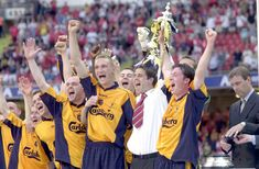 Liverpool FC's 2000/2001 away kit - LFC lift the FA Cup in Cardiff