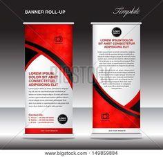Pink Roll Up Business Brochure Flyer Banner Design Vertical
