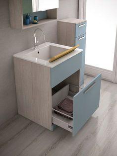 Mobile lavanderia con lavatoio LAVANDERIA 4 by LEGNOBAGNO