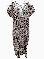 Cotton Nightgown Sleepwear Nighties Maroon