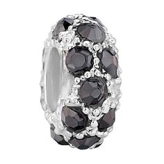 #17 Solid Smooth Sterling Silver Authentic BELLA FASCINI Cuff Bangle European Bead Charm Bracelet