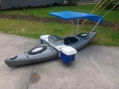 Kayak modification, fishing machine, boat mod #canoemodificationsdiy