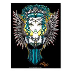 Gothic Angel, Gothic Fairy, Gothic Fantasy Art, Dark Fantasy, Ouvrages D'art, Goth Art, Angel Art, Fairy Art, Illustrations