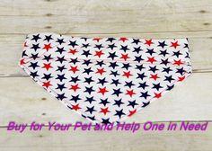 Red White and Blue Over the Collar Dog Bandana by FocusforaCause