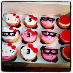 My Creative Way: Nerdy Hello Kitty Cake & Cupcakes {Sweet Friday}