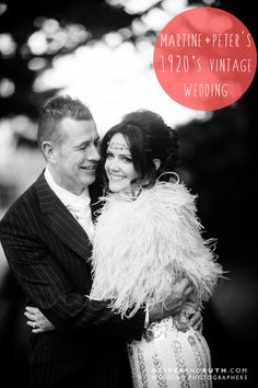 Martine & Peter's 1920s vintage wedding.  Location: Llansantffraed Court, Monmouthshire, Wales Photographer: Oliver & Ruth