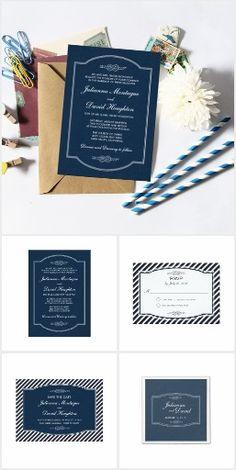 Sailor's Knot Wedding Invitation Suite