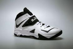 huge selection of ea3b6 d3359 Nike Zoom Soldier VII 599263 100 White Black Metallic Silver Lebron James  Nike Shoes, Nike