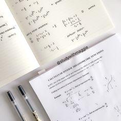 black + muji gel pens #math notes
