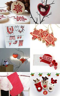 Red Christmas   by Ana Anselmo on Etsy--Pinned with TreasuryPin.com #PTteamEtsy #ChristmasColorsProject #EtsyEurope #Portugal