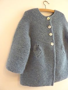 Little Buds. 12 months to 10 years… Knit Baby Sweaters, Knitted Baby Clothes, Knit Sweater Dress, Knitting For Kids, Baby Knitting Patterns, Brei Baby, Crochet Baby, Knit Crochet, Little Buds