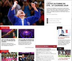 117: The first photo on the page was front and center at the top of the page and was by far the biggest because it captured a moment, showed emotions and conveyed French pride and victory. The next few stories, which all had much smaller photos, highlight international unity, the grandeur of the Olympics, international safety and an athlete doing what he does best: compete. We also agreed that the page itself was categorized in a way that you could find what you were looking for easily.