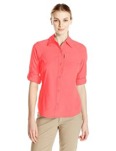 Columbia Women's Silver Ridge Long Sleeve Shirt * Review more details here : Camping clothes