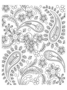 Coloring Poster: Teardrop Floral Design Coloring Art by Anonymous : 48x36in