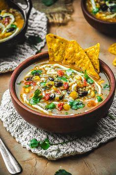 Salsa Verde Brown Rice Tortilla Soup (Vegan+GF) – Sincerely Tori