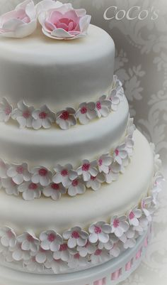 Coco's cherry blossom wedding cake | Flickr - Photo Sharing!