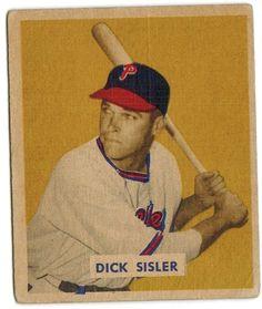 Dick Sisler 1949 Bowman Baseball Card Philadelphia Phillies Bowman Baseball Cards, Phillies Baseball, Philadelphia Phillies, Sports, Hs Sports, Sport