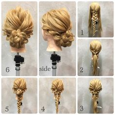 Collective Hair Arrangement ♪ * Hold the side and ear . Fancy Hairstyles, Ponytail Hairstyles, Hair Arrange, Hair Setting, Crazy Hair, Hair Videos, Hair Designs, Prom Hair, Bridal Hair